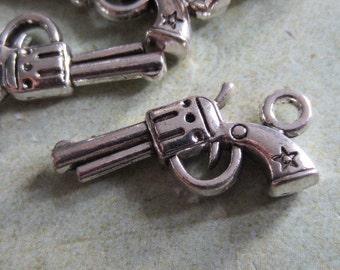 10 - Antique Silver- Pistol Charm (ASPC)