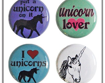 Unicorn Magnets - set of four super strong magnets