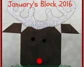 Tis The Season Quilt Doodle Designs January's Block 2016