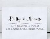 Custom Address Stamp, Calligraphy Stamp, Wedding Stamp, Eco Mount Rubber Address Stamp - Granville