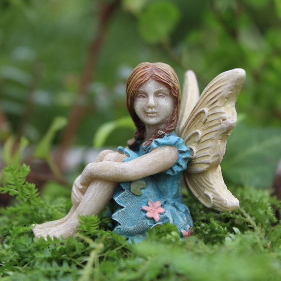 "Fairy Charlotte (2"" Tall) in her Fairy Garden"
