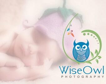 Premade Logo, Owl Logo, Logo Design, Photography Logo, Branch Logo, Leaf Logo, Flower Logo, Owl, Business Logo, Logo, Watermark Logo, .