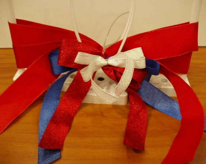DecoFun Bowmaker PATRIOTIC RIBBON Starter Kit- DIY beautiful ribbon bows in minutes. For crafts, wreaths, florals, gift wrap, food gifts