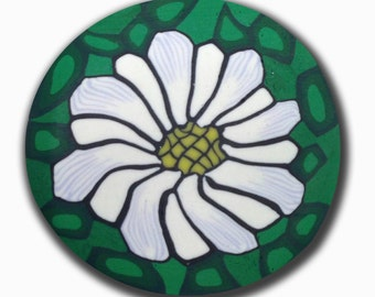 White Flower Polymer Clay Cane Silly Milly small