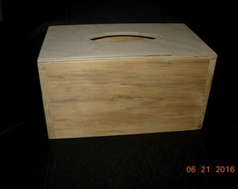 Primitive Tissue Box Cover with Slide Out Bottom -Paint to Order