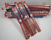 Vintage Aero Made In England Aluminum Knitting Needles New Old Stock Lot Of 16