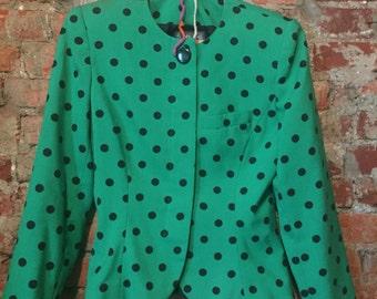 Vintage polkadot blazer. size 6