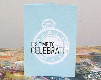 Time To Celebrate – Screenprint Card