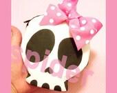Skull Bow Coin purse Deadsie CoinPurse Zipper Pouch Coin Bag with Polka Dot Bow Spooky Cutie Skulls