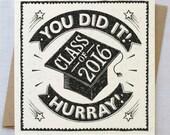 Graduation Card Class of 2016