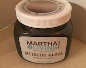 Martha Stewart Black Coffee Metallic Glaze