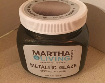 Martha Stewart Black Coffee Metallic Glaze