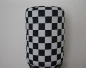 Checker Home Bottle Water Decor-Water Bottle Standard Size-Black and White Checker