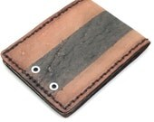The cafe Racer (faded) - New Mens Leather Wallet brown and black rustic vintage bifold
