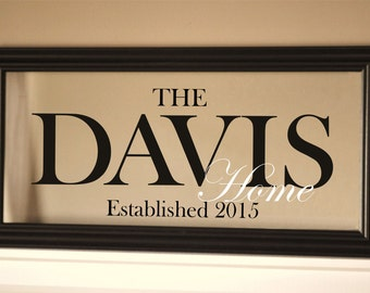 Wedding Sign Personalized Family Name Sign Picture Frame 11x21