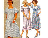 80s Drop Waist Sailor Dress Pattern Style 4298 Vintage Sewing Pattern Size 14 Bust 36 inches