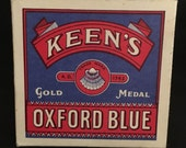 Vtg Keen's Oxford Blue Bluing Box / Container - Unopened