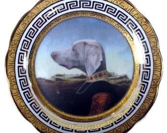 "Grand Duchess of Saxe-Weimar-Eisenach - Altered Antique Plate 9.25"""