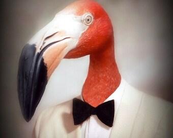 NEW PORTRAIT*** Fernando the Fantastic Flamingo  - 8 X 10 Art Print