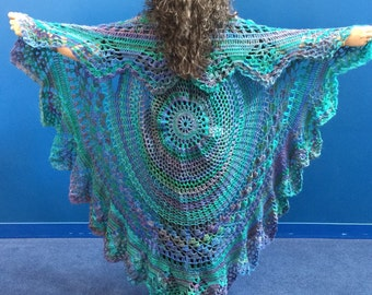 Festival Clothing Crocheted Circular Sweater Vest - Boho Hippie Chic