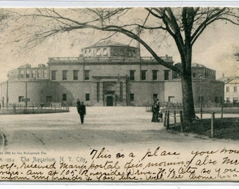 The Aquarium New York City NYC NY 1906 postcard