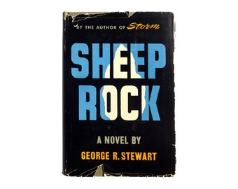 "E. McKnight Kauffer book jacket design, 1951. ""Sheep Rock"" by George R. Stewart."