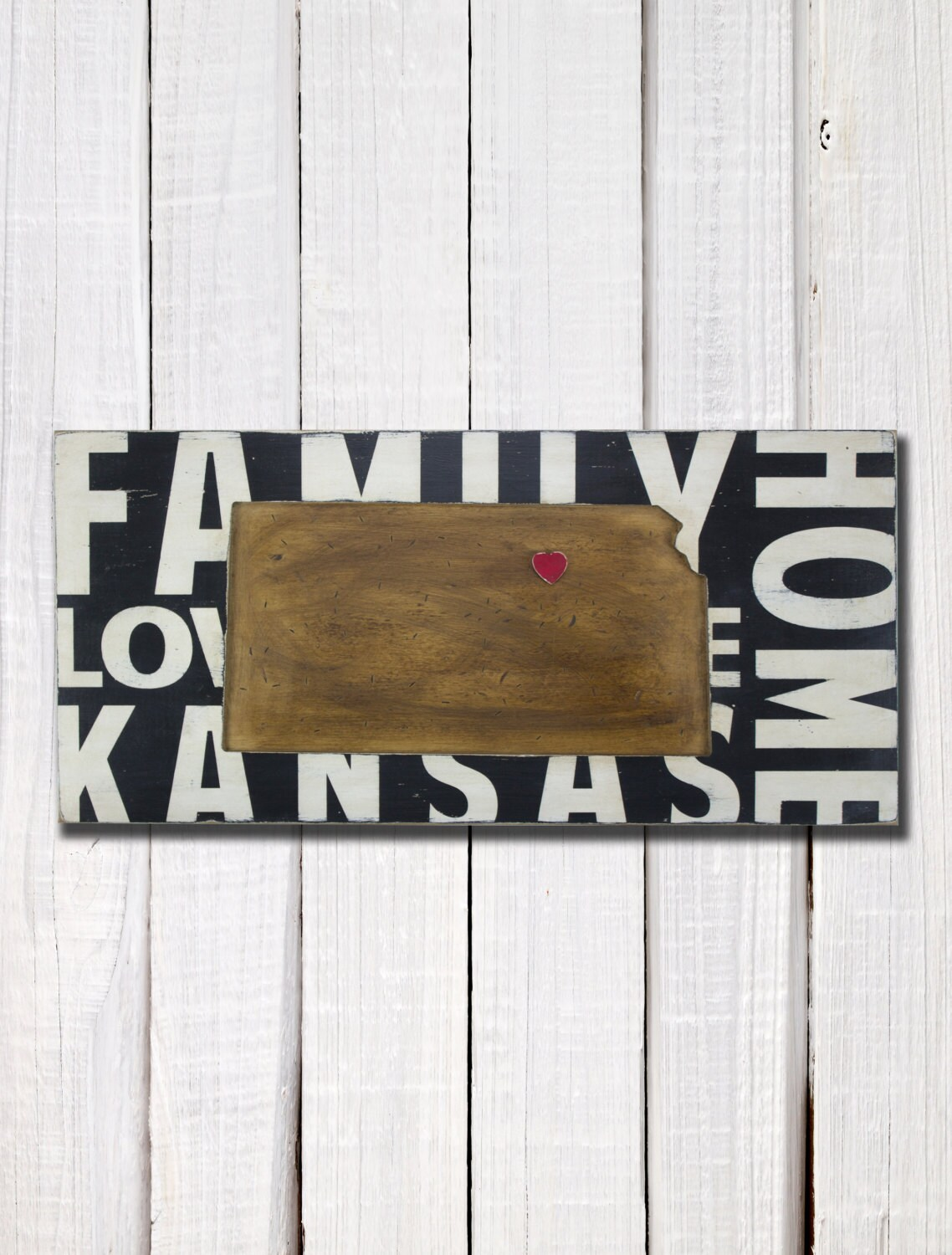 State Wall Decor Kansas Where We Love Is Home