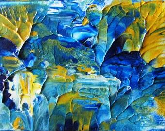 Secret Lake Acrylic Original Abstract Canvas by Ryan O'Neill