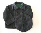 Blackwatch plaid jacket and beret Size 12 to 18 months