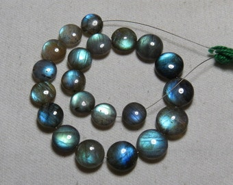 Labradorite - High Quality - AAAA - Smooth Polished Coin shape Briolletes so Amazing Gorgeous Multy Fire Huge size - 8.5 - 11.5 mm - 21 pcs
