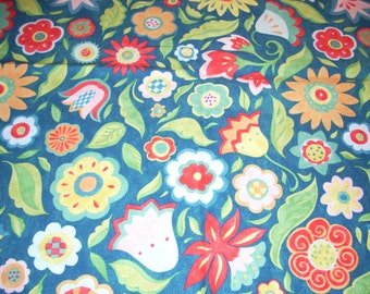 "Festive Floral by Susan Wingert - cotton Fabric -  44"" wide - sold by the yard"