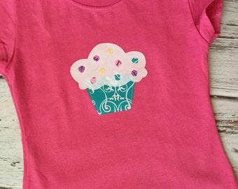 SALE- Girl's Cupcake Shirt Size 4