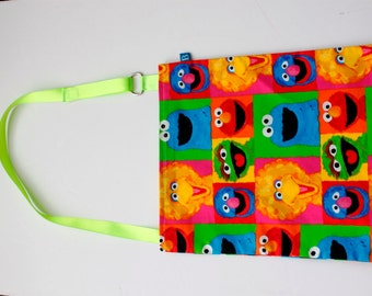 Washable, Eco-Friendly Car Trash Bag in Sesame Street Fabric