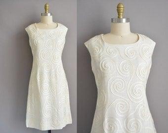 Herman Marcus 50s swirl design vintage dress / vintage 1950s dress
