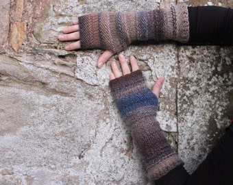 Arm warmers - multicolour mittens - extra long, gift for her  fingerless gloves arm warmers, gift for her