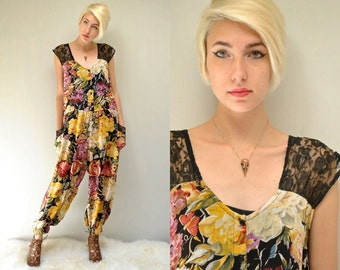 Floral Jumpsuit  //  90s Rayon Jumpsuit  //  THE QUINN