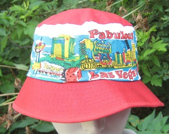 I went On Vacation Vintage 1970s Bucket Hat Vegas Baby State