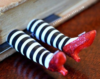 Bookmark - Wizard of Oz - Ruby Slippers Bookmark - Witch Legs Bookmark - Wicked Witch Bookmark