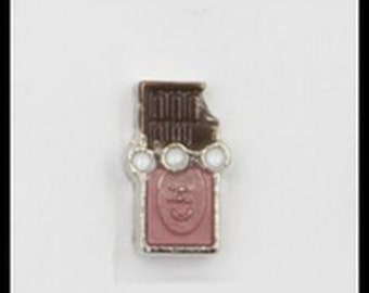 Floating Charm Chocolate Candy Bar for Floating Glass Lockets-Free Shipping