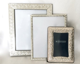 Valentine Sale Lot of Silver Picture Frames / Silver Plated Photo Frames in Various sizes