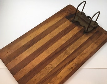 Antique Yawman And Erbe Wooden Clipboard