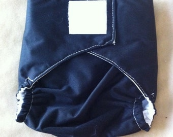 Ready to Ship - Diaper Cover - Velcro - Black