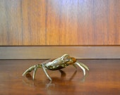 vintage brass crab trinket box