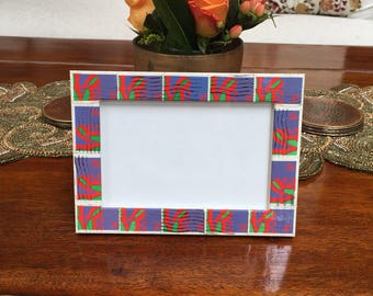 LOVE Postage Stamp Frame (Holds 4x6 photo)
