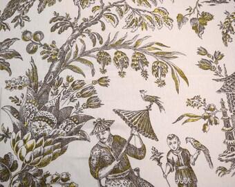 Asian Arcadia Sepia Waverly Fabric