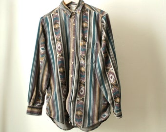carhartt vintage SOUTHWESTERN native american COTTON button up shirt IKAT
