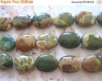 "20% OFF ON SALE 8"" long (10 pcs) Rhyolite Oval 15mmx20mm Beads, Gemstone Beads"