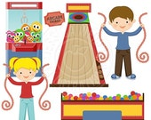 SALE Arcade Crazy Cute Digital Clipart - Commercial Use OK - Arcade Clipart - Ball Pit, Skeeball, Arcade Ticket