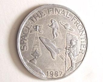 NSTL Mardi Gras Coin, 1987 Space Final Frontier Souvenir