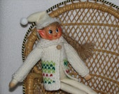 Elf Sweater - RTG - in White Red and Green Wool